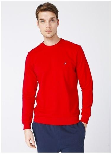Nautica Nautica Erkek Kırmızı Sweatshırt Kırmızı